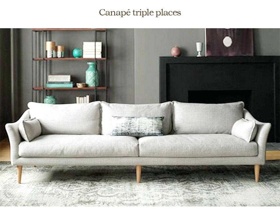 canapé entièrement déhoussable et lavable