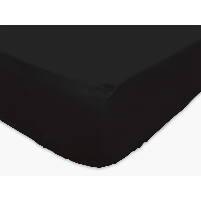 drap housse noir