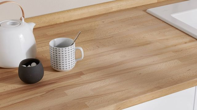 plan de travail stratifié bois