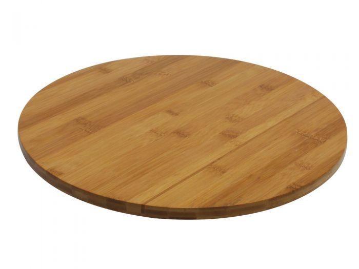 plateau tournant en bois