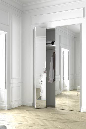 porte avec miroir