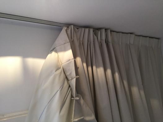 rideau pour rail