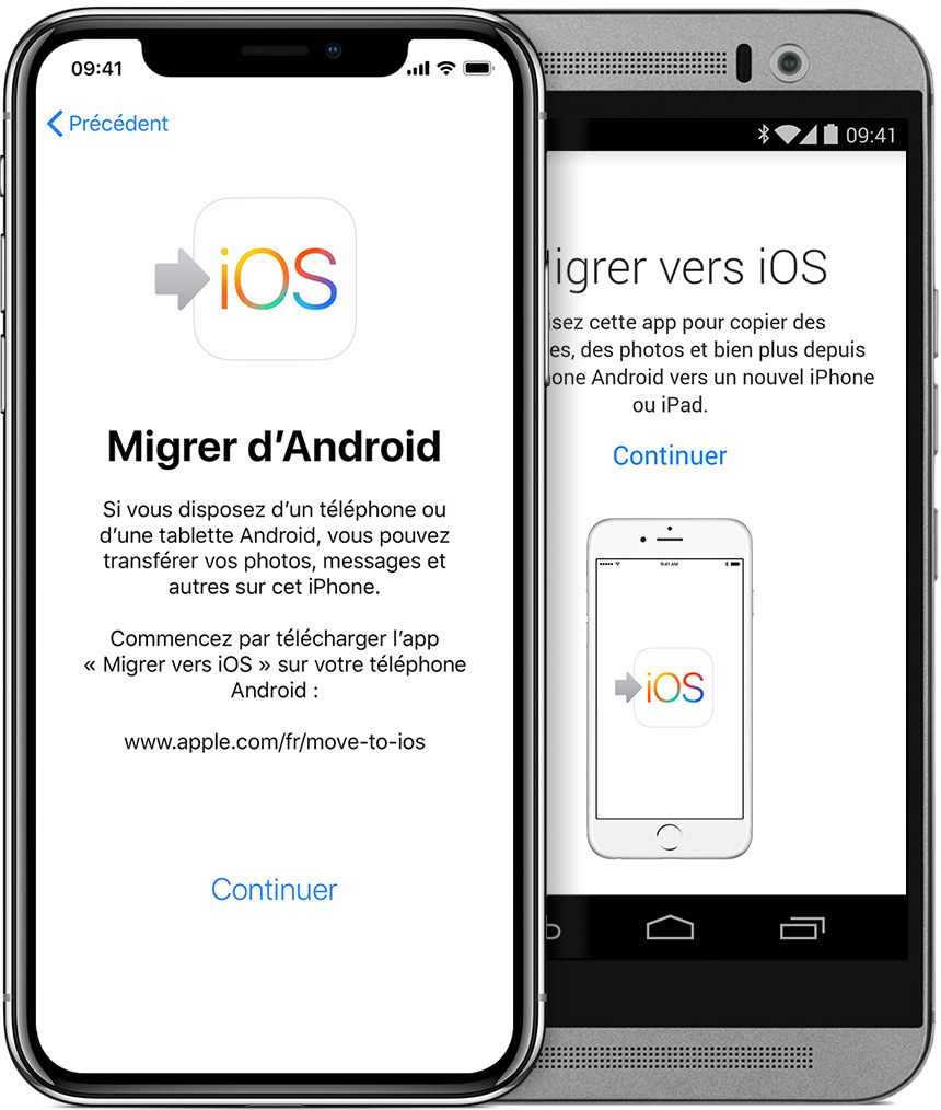 transferer contact android vers iphone