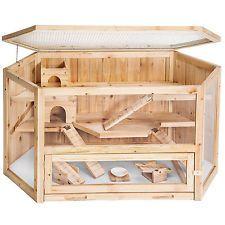cage hamster bois
