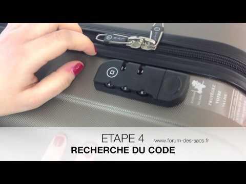 comment trouver le code d une valise