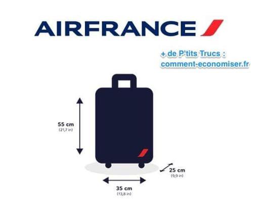 dimension valise air france