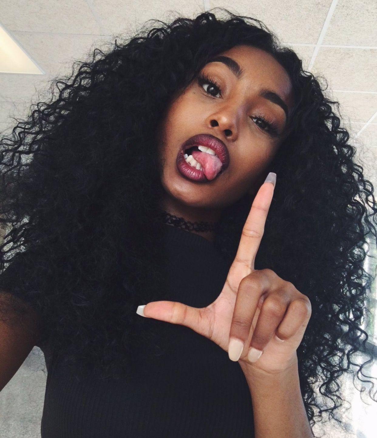 fille noir