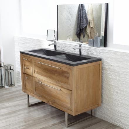 meuble vasque bois