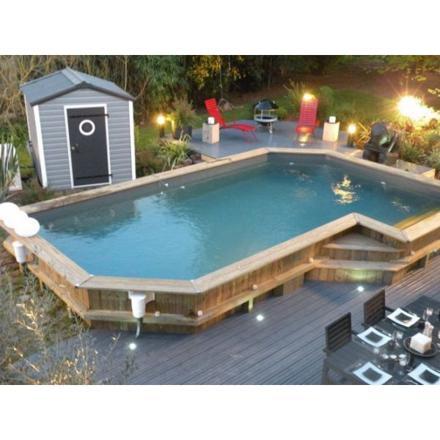 piscine semi enterrée bois