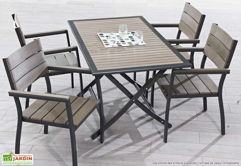 table jardin pliable