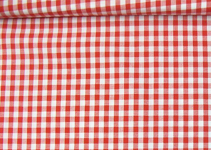 tissu carreaux rouge et blanc