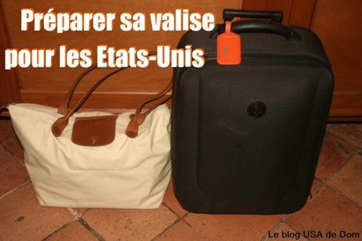 valise pour les usa