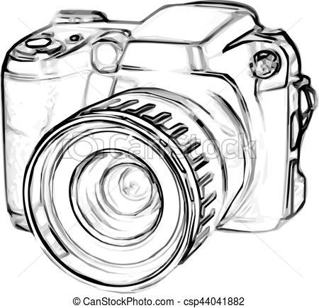 appareil photo dessin