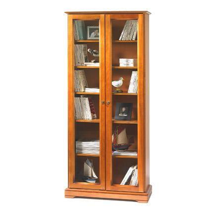 bibliothèque porte vitrée