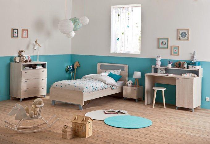 chambre enfant bleu
