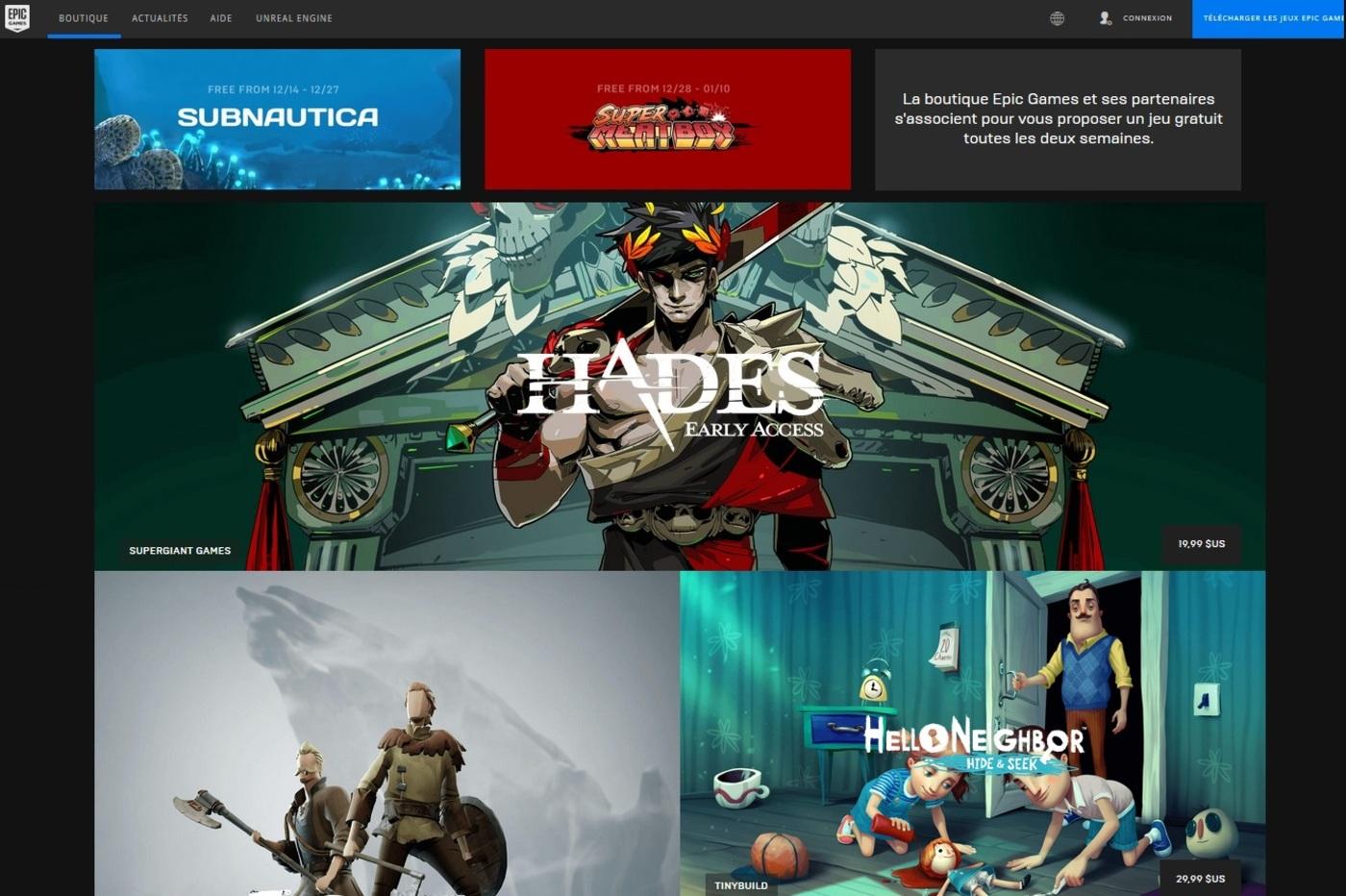epic games jeux vidéo
