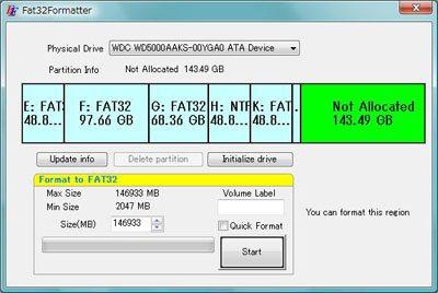 formater disque dur externe