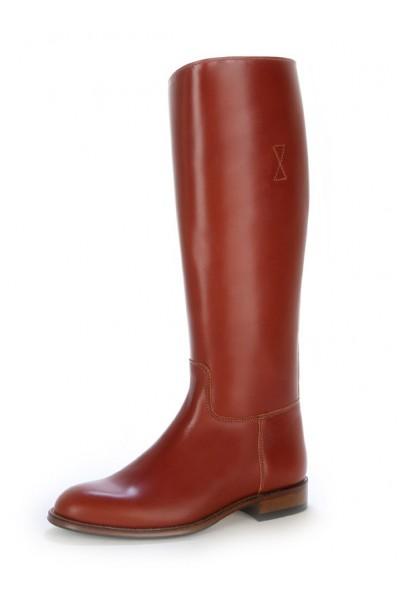 bottes cavalières marron