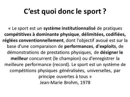 c quoi le sport