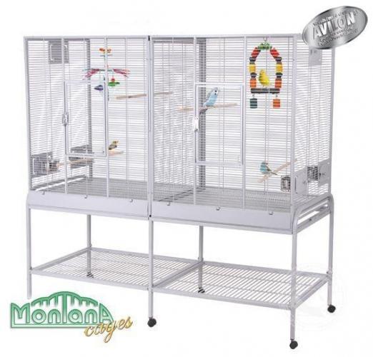 cage double oiseaux