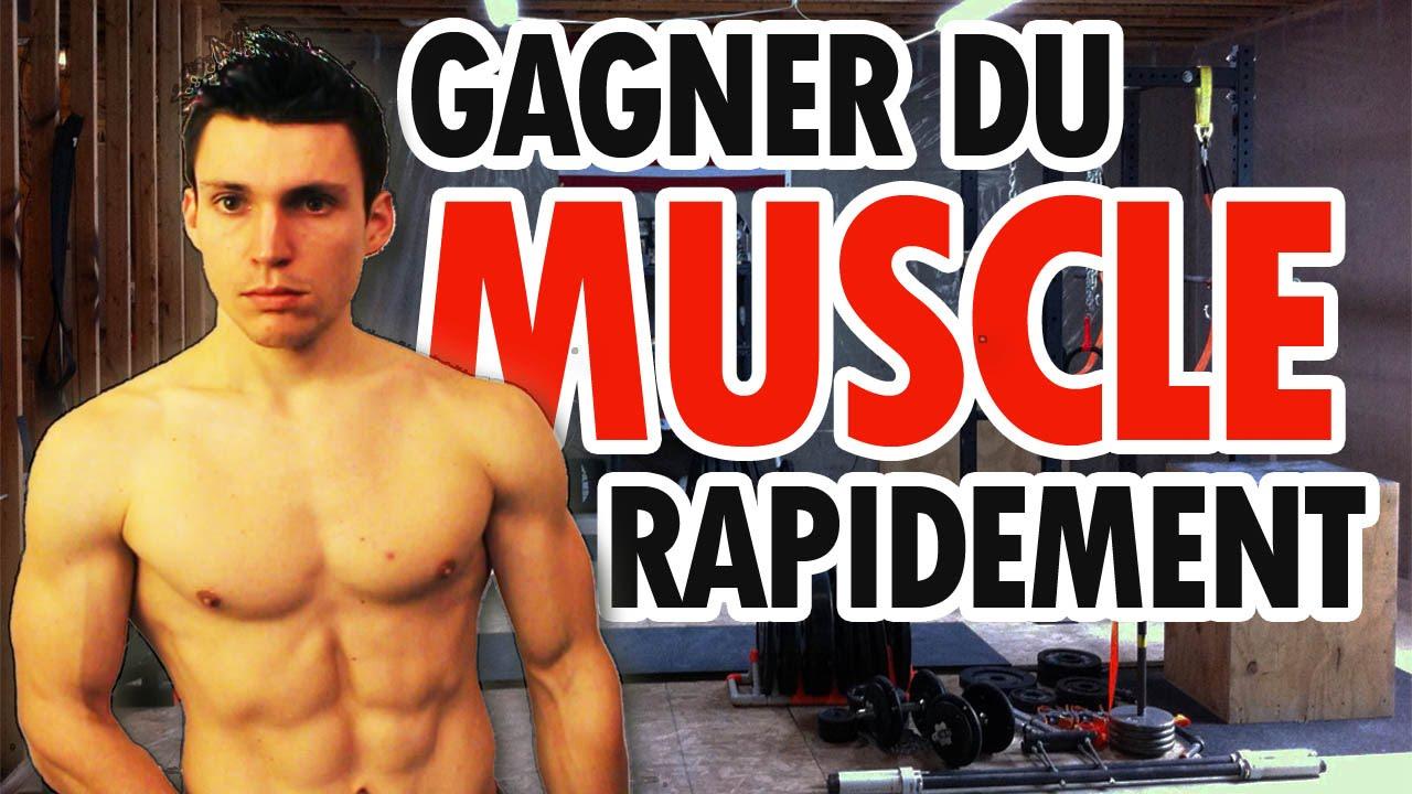 comment prendre rapidement de la masse musculaire