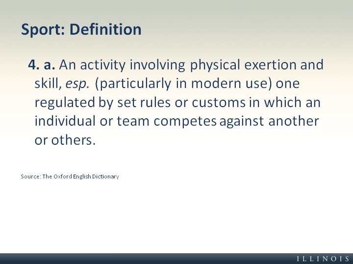 définition du sport