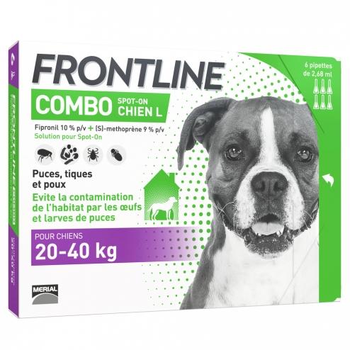 frontline chien 20 40kg 6 pipettes