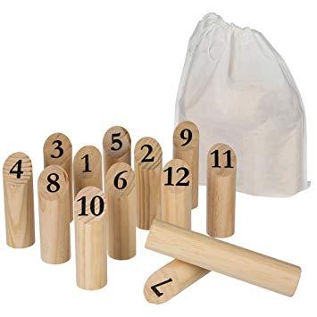 jeu de quilles en bois