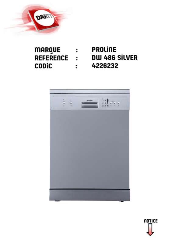 lave vaisselle proline notice