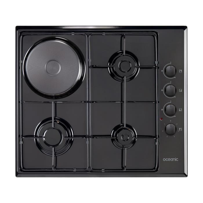 plaque de cuisson mixte gaz electrique