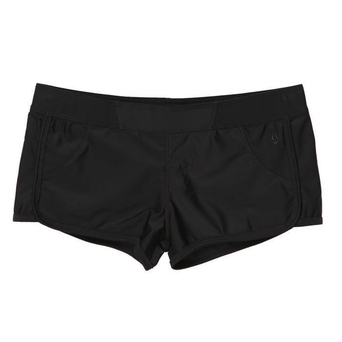 short de bain femme noir