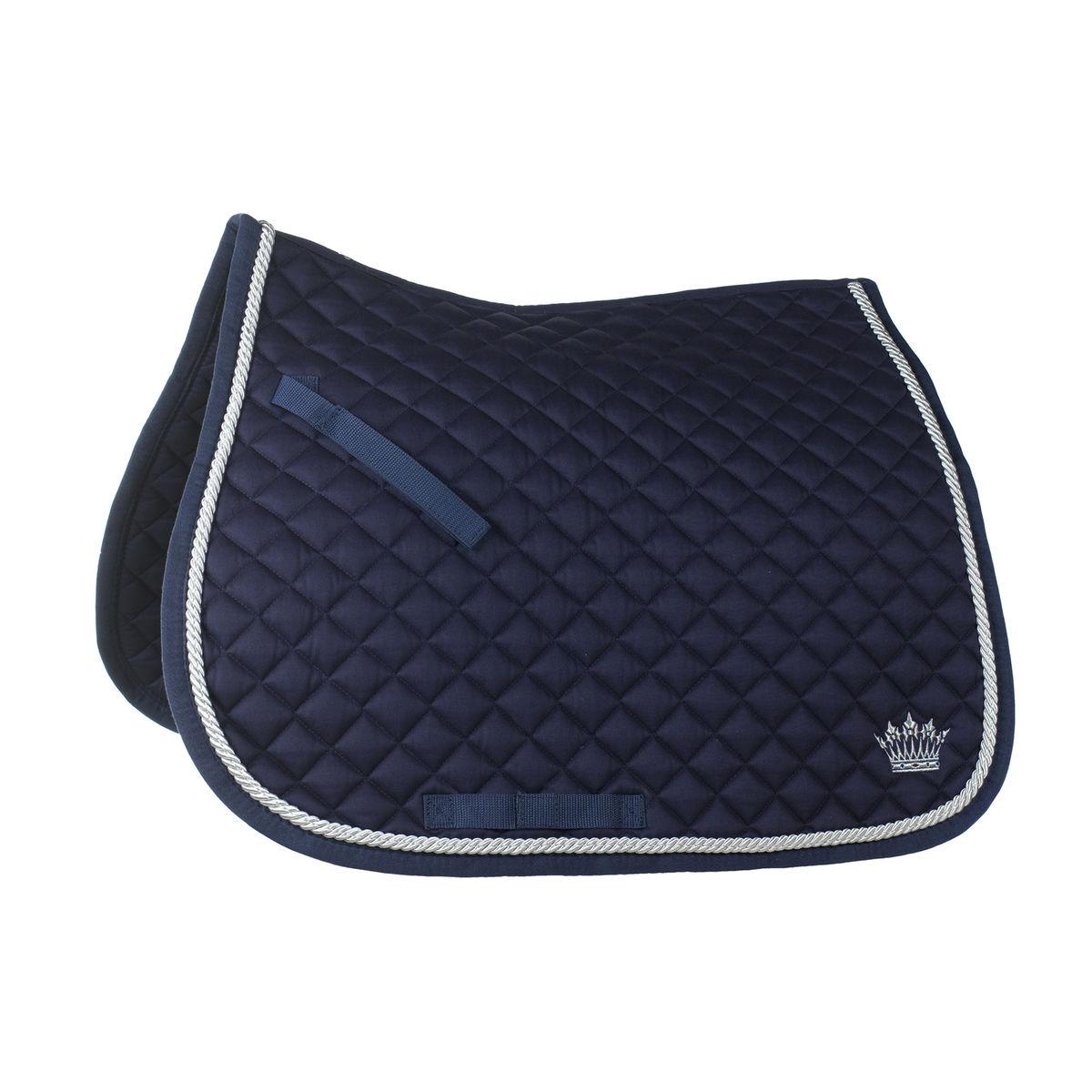 tapis bleu marine cheval