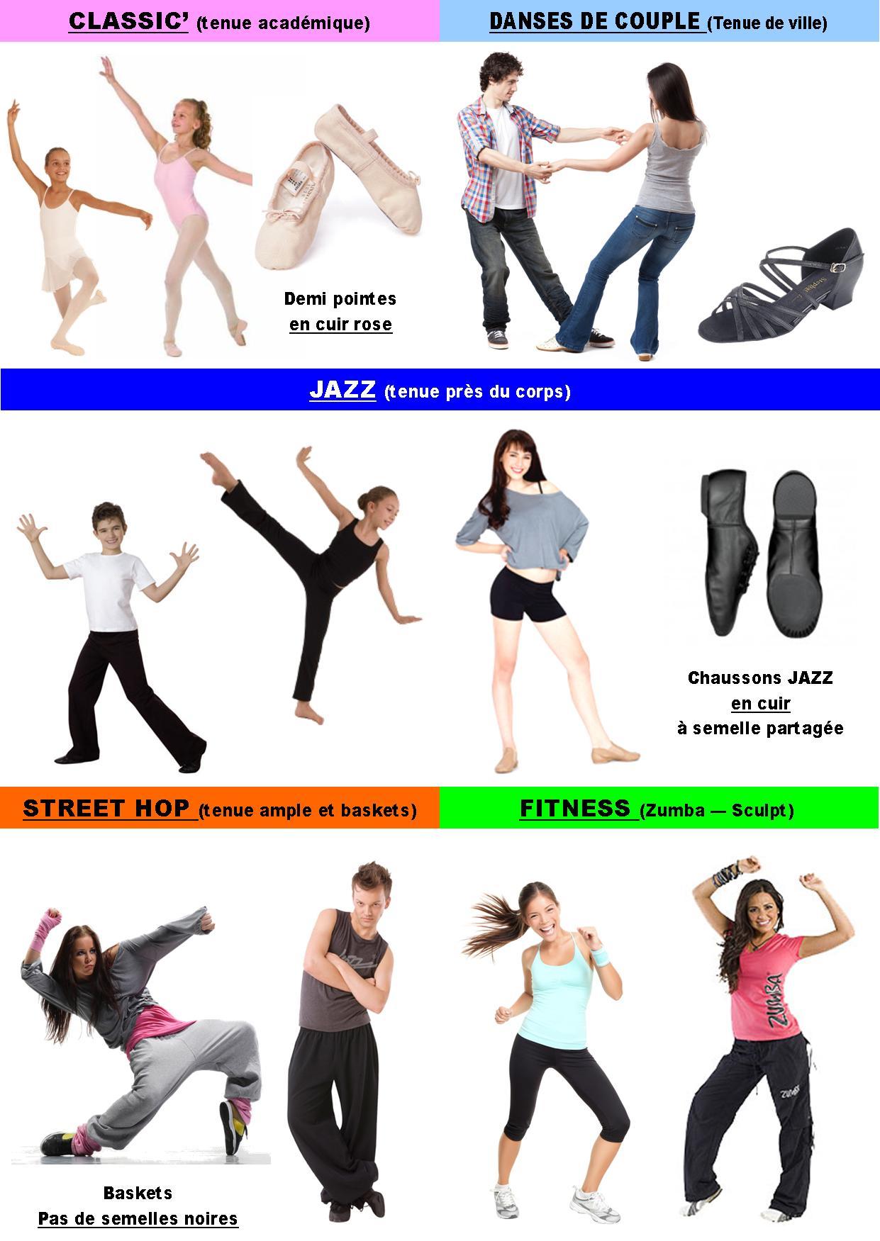 vetement danse modern jazz